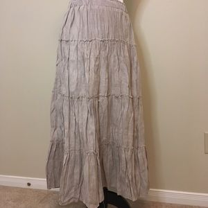 Dresses & Skirts - Cream faux suede tiered skirt. NWT size small